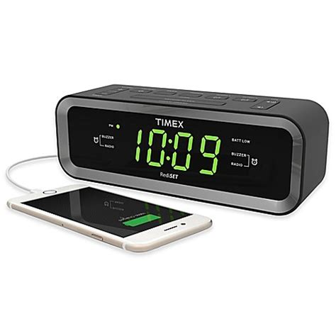 bedside l with usb charging port timex 174 fm dual alarm clock radio with usb charge port