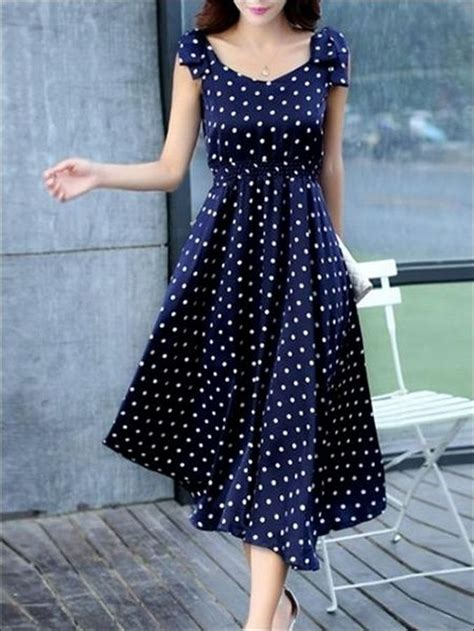 inspired polka dot dresses    fashionable