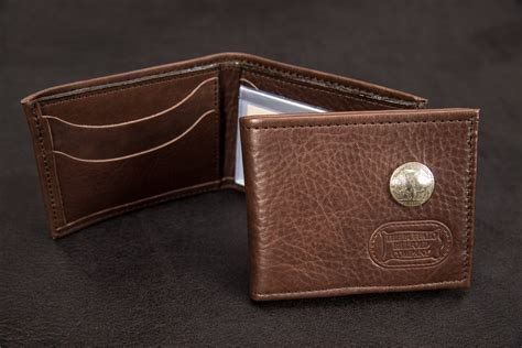 Handcrafted In America - mens handmade bifold wallet made in america buffalo