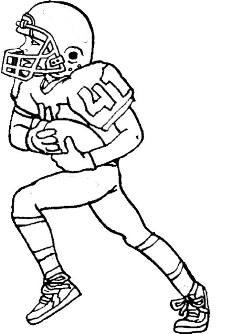 coloring page of a football player free coloring pages of football players to color 7469