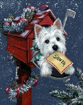 christmas mail    beautiful westie christmas paintings vintage christmas christmas