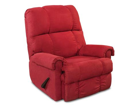 red recliner bright red recliner chair factory select cardinal