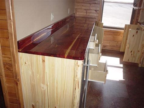 k and a log furniture cedar countertop with pine