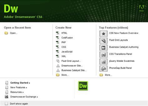 dreamweaver quick tutorial welcome screen tutorial webucator
