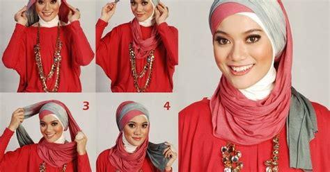 4 video tutorial jilbab segi empat cara memakai jilbab pashmina dua warna two color