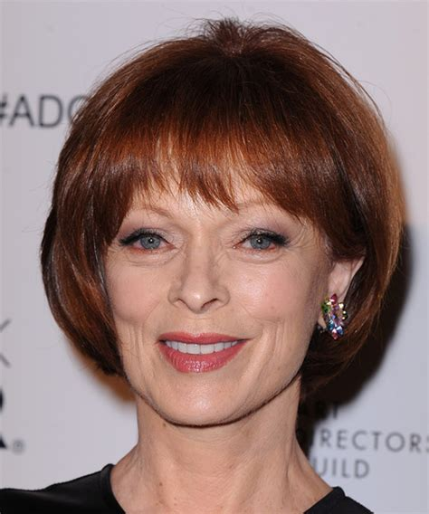Frances Fisher Short Straight Formal Hairstyle With