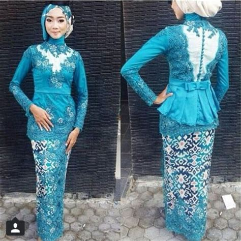 model kebaya muslim modern hijau simple untuk wisuda remaja update trend kebaya modern remaja masa kini ide model busana