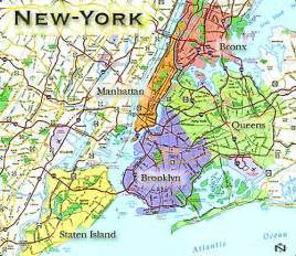 New York On A Map by Map Of New York United States