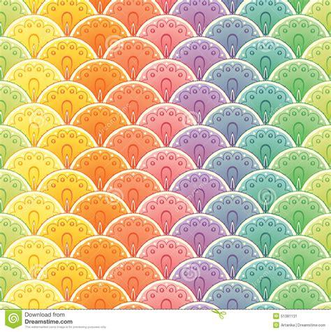rainbow pattern seamless fan rainbow seamless pattern stock vector illustration