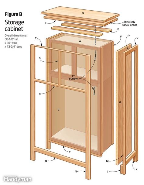 pdf how to build storage cabinets plans free