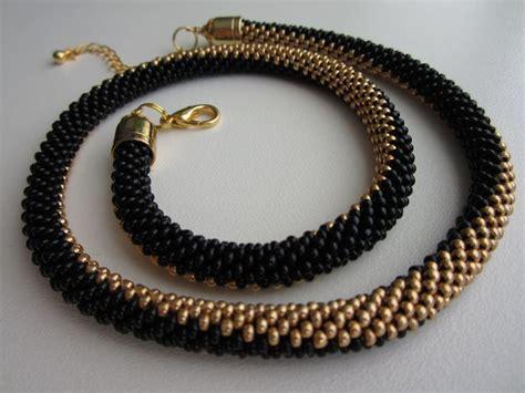 crochet beaded necklace bead crochet necklace mostacilla