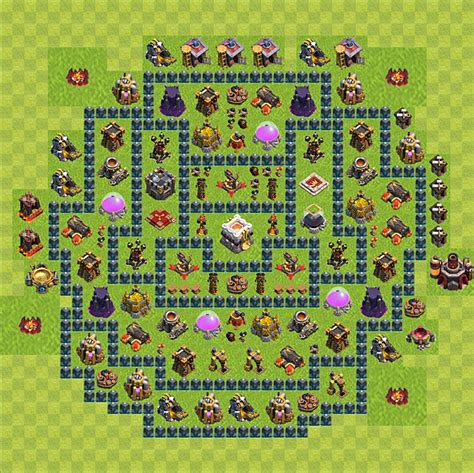 layout coc level 21 clash of clans base plan layout for trophies town hall