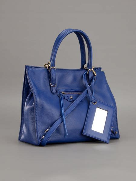 Tas Wanita Fashion Bottega Papier Mini balenciaga mini papier a4 tote in blue lyst