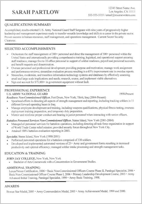 To Civilian Resume Writers by Resume Writer For To Civilian Resume Resume
