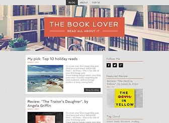 literature blog website template wix