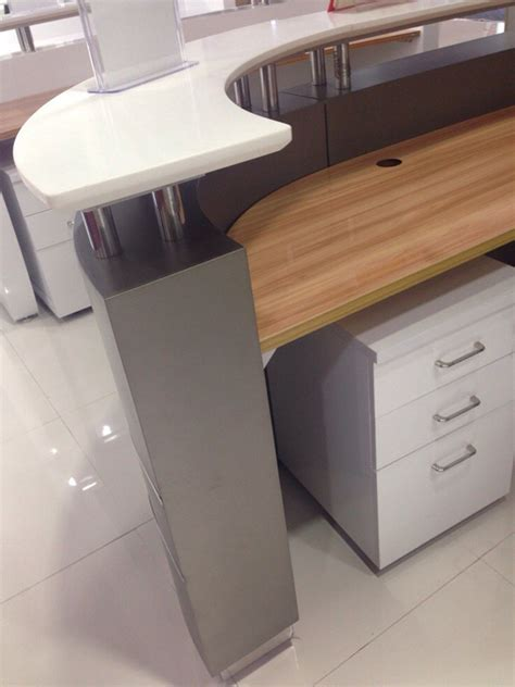 Right Angle Presidente Height Adjustable Reception Desk Commercial Reception Desk