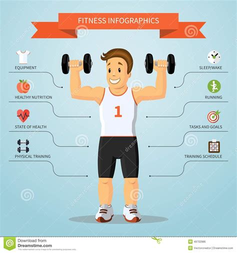 Fitness Infographics Concept Vector Illustration Stock Vector Image 49702986 Fitness Infographic Template