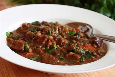 world s best beef stew recipe hearty beef and barley stew the daring gourmet