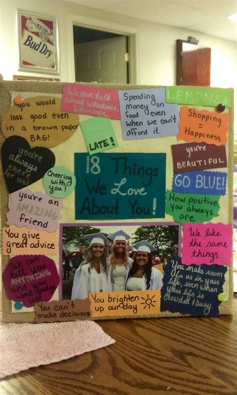 me and my best friend made this for our best friends 18th