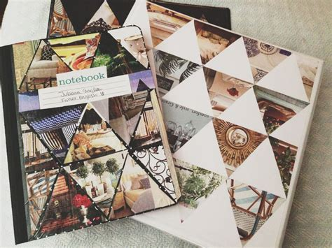 notebook decoration ideas decorate your binder and notebook with magazine triangle