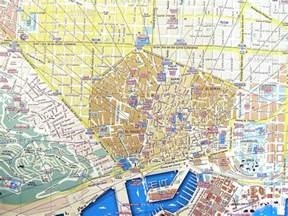 Map Of Barcelona Spain by Streets Map Of Barcelona For Tourists And Visitors Spain