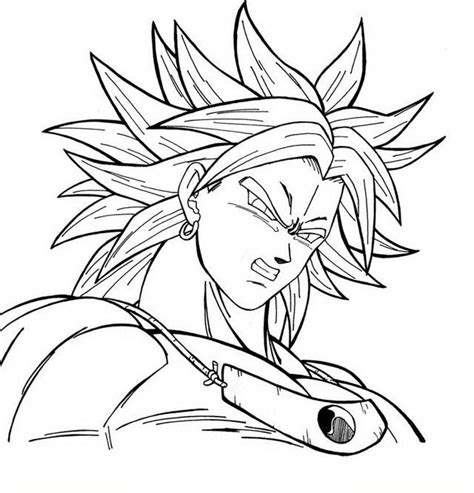 free coloring pages of ssj5 broly