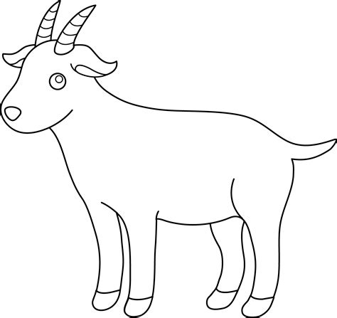 boer goat coloring page cute billy goat clipart clipground