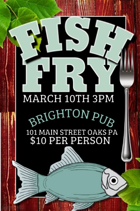 fish fry flyer template fish fry template postermywall