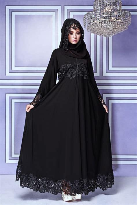 Gamis Camila Abaya Syari Ribbon fancy lace embroidered abaya designs collection 2018 2019