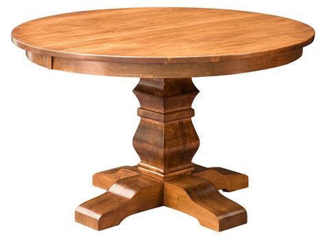 Amish Round Pedestal Dining Table Solid Wood Rustic Roundtable Or Table