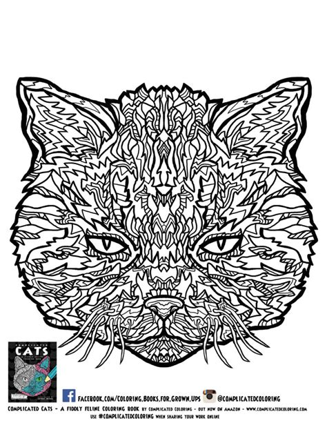 coloring pages for adults printable coloring pages for coloring pages free plicated cats printable coloring