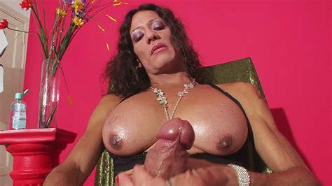 Big Cock Mature Latina Shemale Masturbates By Wonder