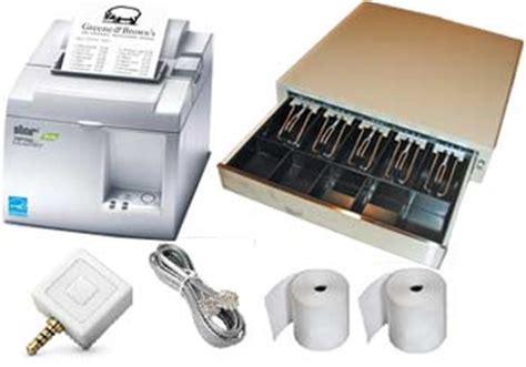 Square Register Drawer And Printer by New Square Register Starter Kit Receipt Printer