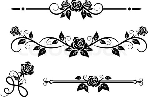 Vintage Rose Home Decor by Rose Flowers With Vintage Elements And Borders Stock