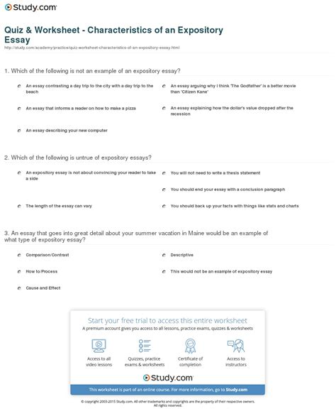writing a thesis statement for an expository essay thesis