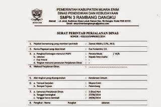 Contoh Surat Perjalanan Dinas Perusahaan Swasta by Contoh Format Surat Perintah Perjalanan Dinas Sppd