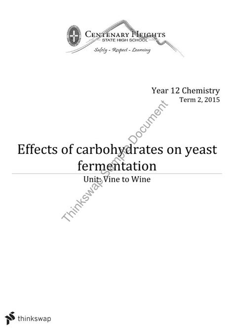 carbohydrates yeast effects of carbohydrates on yeast fermentation eei
