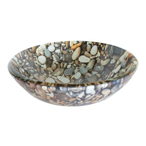 Round Stone Bathtub Shop Eden Bath Natural Pebble Glass Vessel Round Bathroom