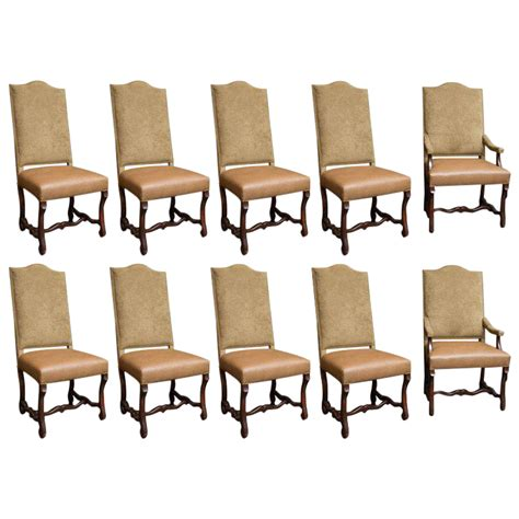 Nailhead Trim Dining Chairs Upholstered Dining Chairs With Nailhead Trim Set Of 10 Chairish