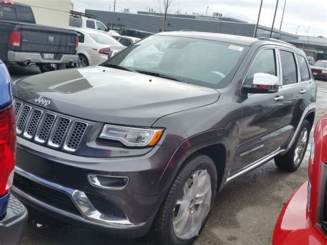 gray jeep grand cherokee with black rims 2016 jeep grand cherokee summit 4x4 dark grey for 69935 in