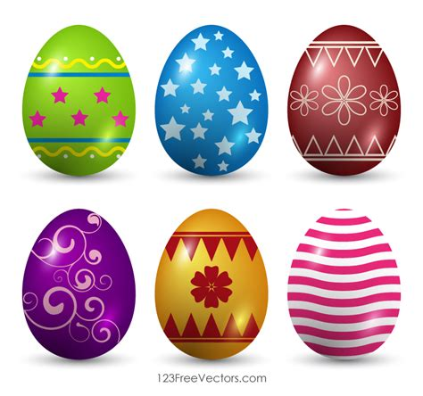 decorated easter eggs decorated easter eggs vector art 123freevectors