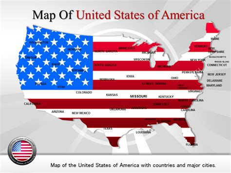 Us Map Template Powerpoint Map Of Usa Editable Map Of Usa Usa Powerpoint Template