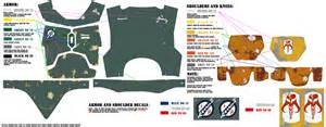 boba fett armor template quot paint by numbers quot humbrol visual guide esb rotj