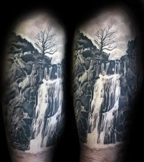 waterfall tattoo 70 waterfall designs for glistening ink ideas