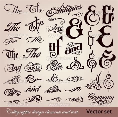 design with font calligraphy font vector font calligraphy design