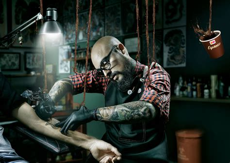 dd espress barber tattoo artist surgeon adeevee