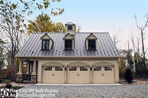 carriage house plans with loft architectural designs postcard perfect carriage house plan 43023pf built by our client