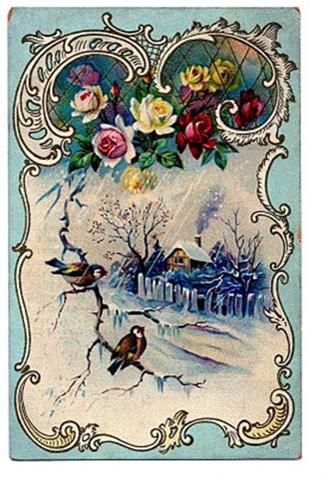 victorian clip art beautiful winter scene french frame  graphics fairy