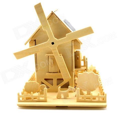 Handmade Windmill - ch st052 creative diy handmade wooden hut house model with