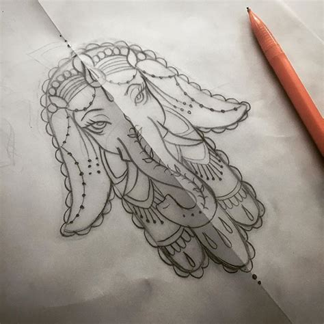 elephant emoji tattoo ganesh elephant drawing on instagram